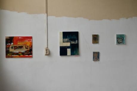 ad hoc squatted art exhibit