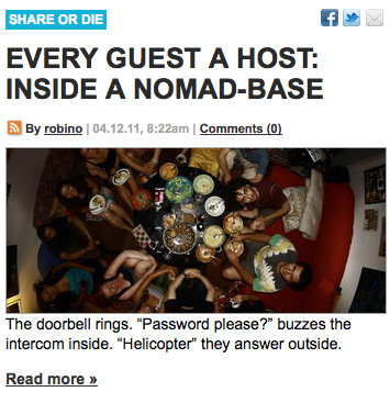 Every Guest a Host: Inside a Nomad-Base