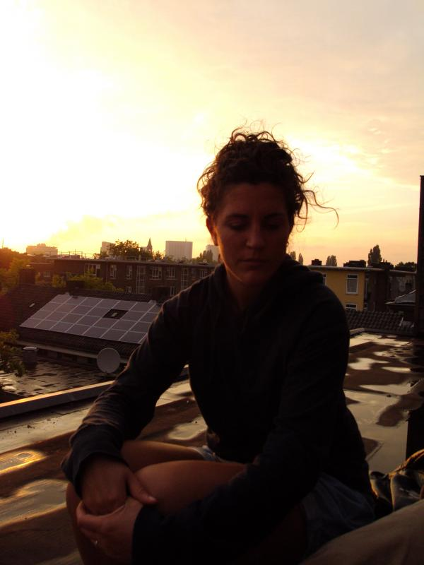 Martina on sunset