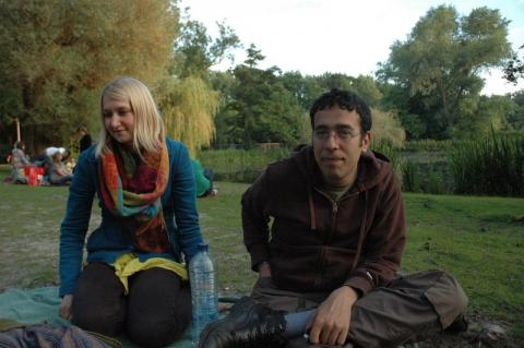 Marc and Kadri inna park